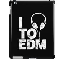 I Listen to EDM (white) iPad Case/Skin