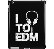 I Listen to EDM (white) iPad Case/Skin