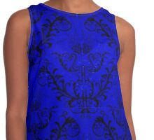 Black and Blue Contrast Tank