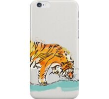 Thirsty Tiger iPhone Case/Skin