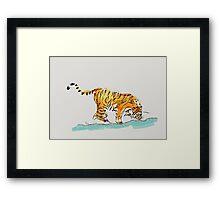 Thirsty Tiger Framed Print