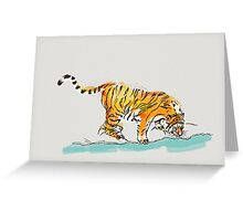 Thirsty Tiger Greeting Card