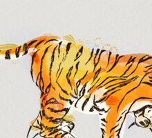 Thirsty Tiger Sticker