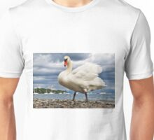 Swan in Hagnau - Lake Constance, Germany Unisex T-Shirt