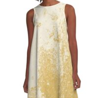 Earth Sweat Design (Spicy Mustard Color) A-Line Dress