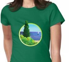 summer camp Womens Fitted T-Shirt