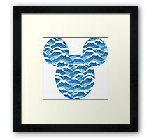 Mouse Wave Patterned Silhouette Framed Print
