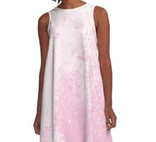 Earth Sweat Design (Cotton Candy Rose Color) A-Line Dress