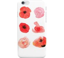 Flowers watercolor illustration iPhone Case/Skin