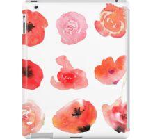 Flowers watercolor illustration iPad Case/Skin