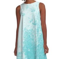 Earth Sweat Design (Shakespeare Blue Color) A-Line Dress