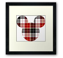 Mouse Checkered Patterned Silhouette Framed Print