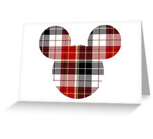 Mouse Checkered Patterned Silhouette Greeting Card