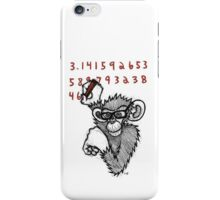 Monkey Doing Pi iPhone Case/Skin