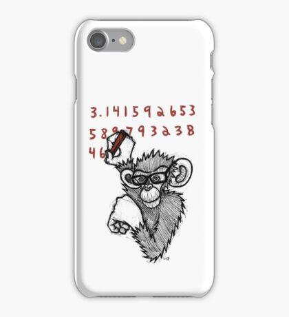 Monkey Doing Pi iPhone Case/Skin