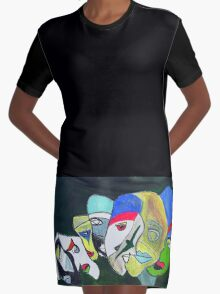 Mardi Gras Graphic T-Shirt Dress
