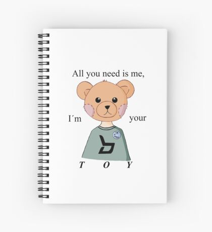 Block B (BBC) Kpop Toy Lyrics inspired Teddy Bear Spiral Notebook