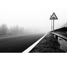Attention to guardrail Photographic Print