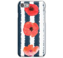 Poppies. Watercolor on paper iPhone Case/Skin