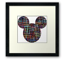 Mouse Multicoloured Abstract Patterned Silhouette Framed Print