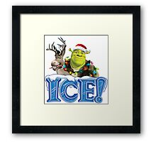 ICE ! MONSTERS - HAPPY CHRISTMAS Framed Print