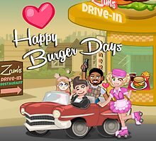 Happy Burger Days by Afzainizam Zahari
