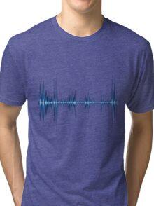 Blue wave of sound Tri-blend T-Shirt