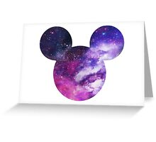 Mouse Galaxy Patterned Silhouette Greeting Card