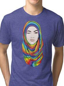 Rainbow Hijab Tri-blend T-Shirt