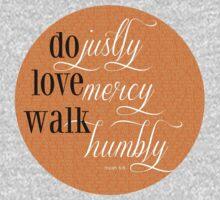 Do Justly | Micah 6:8 | Orange Kids Tee