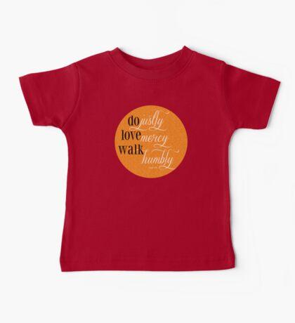 Do Justly | Micah 6:8 | Orange Baby Tee