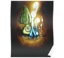 Glow Caps Poster