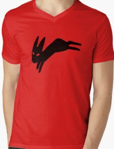 Black Rabbit Mens V-Neck T-Shirt