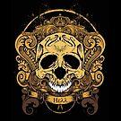 Vintage Retro Skull Hell by sastrod8