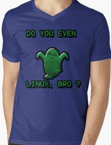 LINUX BRO Mens V-Neck T-Shirt