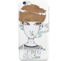 "Smoking kills and creates. ( colorful) cigarette, creative, own style ""aesthetic"") iPhone Case/Skin"