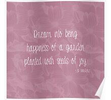 Dogwood Floral Dream Poem Poster