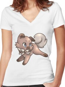 Rockruff Women's Fitted V-Neck T-Shirt