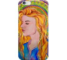 Alphonse Mucha Style Mandala Girl iPhone Case/Skin