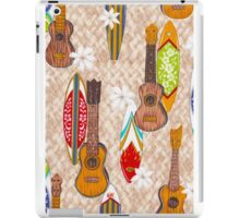 Hawaiian Surfboard and Guitar Print iPad Case/Skin