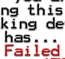 Error 1701 Sticker