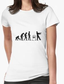 Funny zombie Evolution RIP Womens Fitted T-Shirt