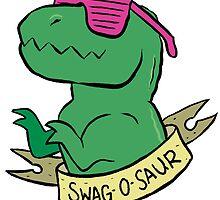 Friendly T-Rexes - Swag-O-Saur by ackimakescomics