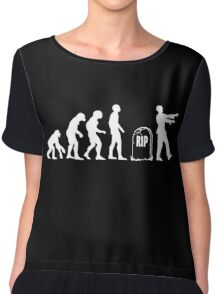 Scary and Funny zombie Evolution walking Chiffon Top