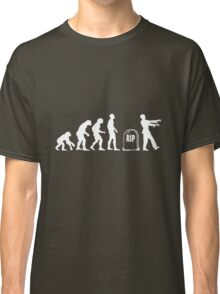 Scary and Funny zombie Evolution walking Classic T-Shirt