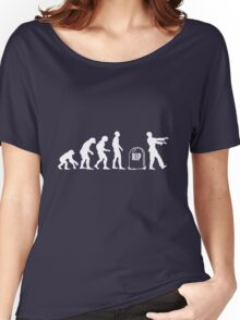 Scary and Funny zombie Evolution walking Women's Relaxed Fit T-Shirt