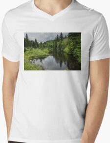 Forest Lake - Charlevoix, Quebec, Canada Mens V-Neck T-Shirt