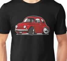 Fiat 500R caricature red Unisex T-Shirt