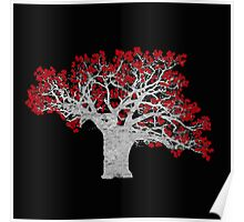 Red Heart Tree Poster