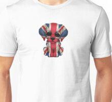 Cute Patriotic British Flag Puppy Dog Unisex T-Shirt